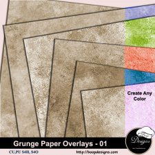 Grunge Paper Overlays 01 by Boop Designs