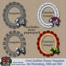 Oval Ruffled Frame Template by Karen Stimson