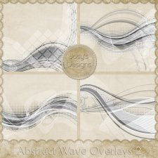Abstract Wave Overlays 2 by Josy