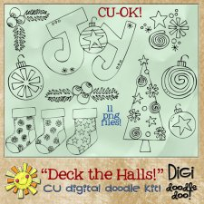 Christmas - Deck the Halls - CU doodles