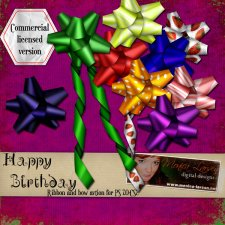 Happy Birthday Ribbon and Bow Action by Monica Larsen