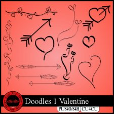 EXCLUSIVE Doodles 1 Valentine CU4CU by Happy Scrap Arts