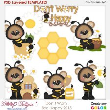 Don't Worry Bee Happy Layered Element Templates