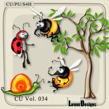 CU Vol 034 Insects Pack 5 by Lemur Designs