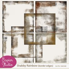 Rainbow Shabby Border Edges by PapierStudio Silke