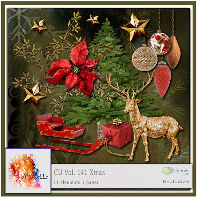 vol 141 Christmas Elements EXCLUSIVE bymurielle