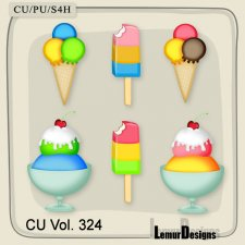 CU Vol 324 Ice Cream Pack 2 by Lemur Designs