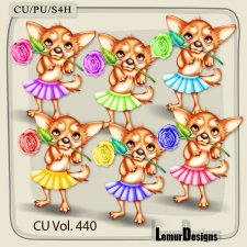 CU Vol 440 Valentines Dogs by Lemur Designs