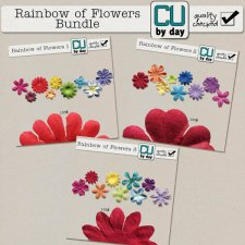 Rainbow of Flowers Bundle - CUbyDay EXCLUSIVE