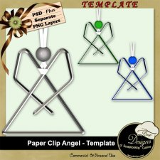 Paper Clip Angel TEMPLATE by Boop Designs
