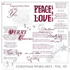 Christmas Word Arts Vol 03 by D's Design
