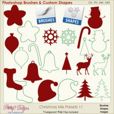 Christmas Brush & Shape PRESETS 11