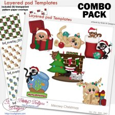 Meow Christmas Layered Template COMBO Set