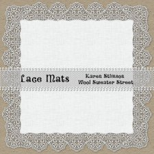Lace-Edged Linen Mats by Karen Stimson