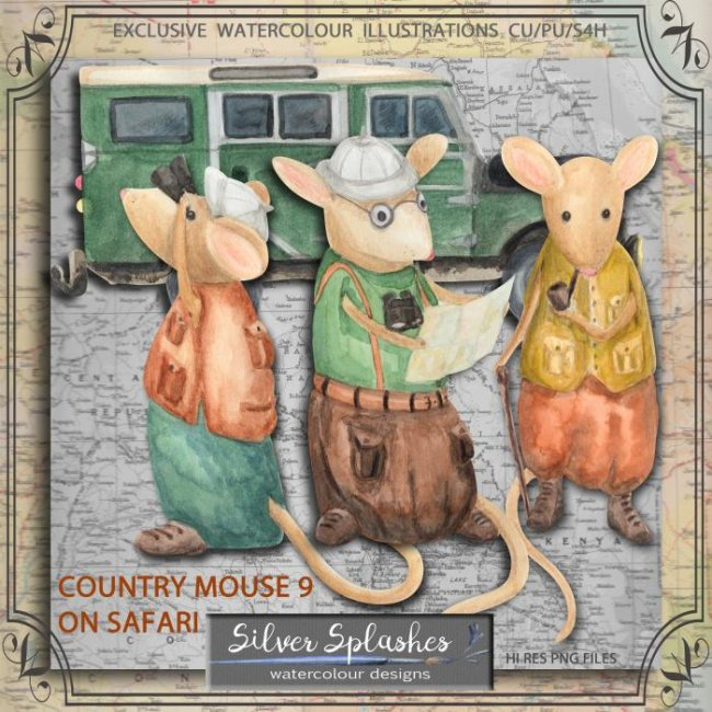 EXCLUSIVE Country Mouse 9 on Safari by Silver Splashes