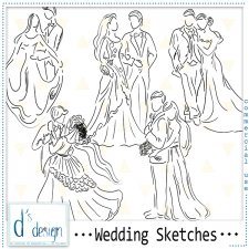 Wedding Sketches by Doudou Design
