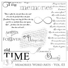 Memories Word Arts Vol 03 by D's Design