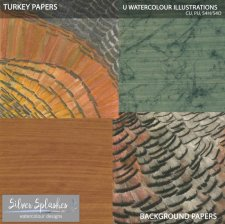 EXCLUSIVE Turkey Paper Pack 3 by Silver Splashes
