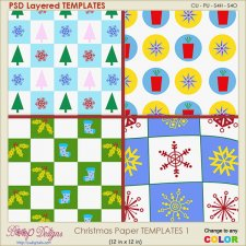 Christmas Paper Layered TEMPLATES 1