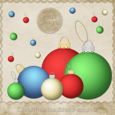 Christmas Baubles Photoshop Action 2 by Josy