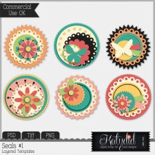 Cluster Seals Layered Templates Pack No 1