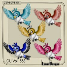 CU Vol 558 Birds by Lemur Designs