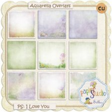 Aquarella Overlay Set No. 4 EXCLUSIVE by PapierStudio Silke