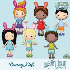 Cliparts Bunny Kids Pathy design