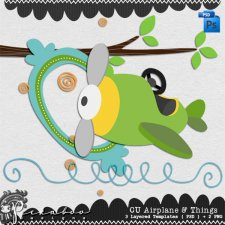 Airplane & Things Layered Template by Peek a Boo Designs