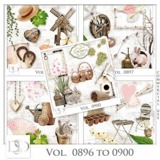 Vol. 0896 to 0900 Spring Nature Mix by D's Design