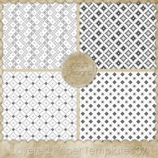 Layered Paper TEMPLATES 37 by Josy