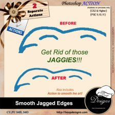 Smooth Jagged Edges ACTION by Boop Designs