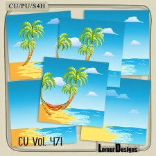 CU Vol 471 Summer Beach Papers by Lemur Designs