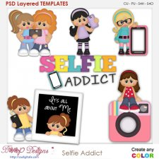 Selfie Addicted Layered Element Templates