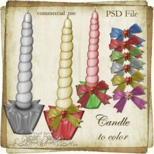 Candle Layered TEMPLATE by Rose.li