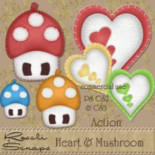 Action - Heart & Mushroom by Rose.li