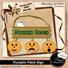 Pumpkin Patch Sign ACTION by Boop Designs