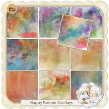 Happy Painted Overlays by PapierStudio Silke