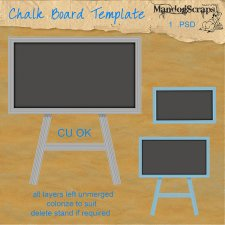 Chalk Board Template by Mandog Scraps