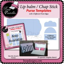 Lip Balm - Chap Stick Purse TEMPLATE by Boop Printables