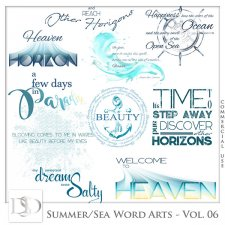Summer - Sea Word Arts Vol 06 by D's Design