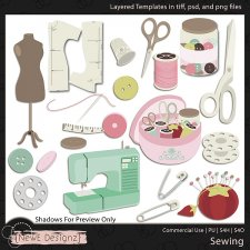 EXCLUSIVE Layered Sewing Templates by NewE Designz