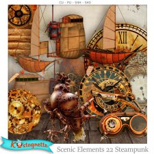 Scenic Elements 22 Steampunk by Kastagnette