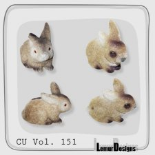 CU Vol 151 Rabbit bunny by Lemur Designs