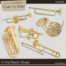 Band Music - Brass Horn - EXCLUSIVE Designs by Ohana