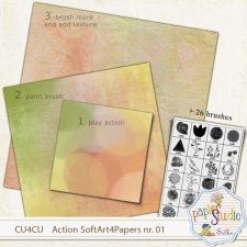 Action Soft Art 1 - Softy Papers EXCLUSIVE by PapierStudio Silke