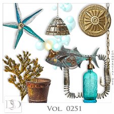 Vol. 0249 to 0252 Steampunk Sea Mix by D's Design