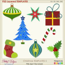 Christmas Layered TEMPLATES 5