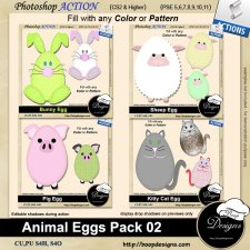 Animal Egg Pack 02 ACTION by Boop Designs