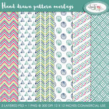 Hand drawn pattern overlays